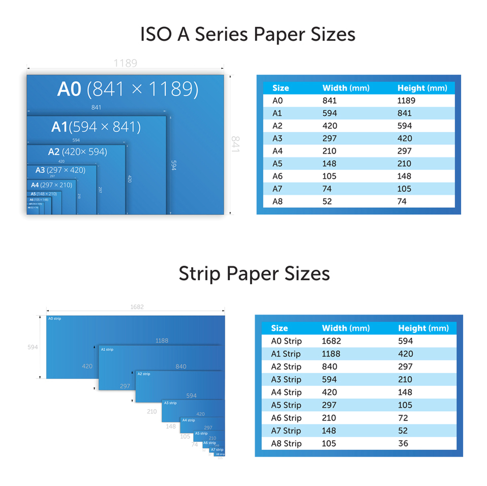 Printing paper sizes your digital printing company for Printer paper size